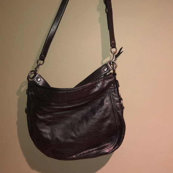 Coach Handbags - Metallic silver hobo purse